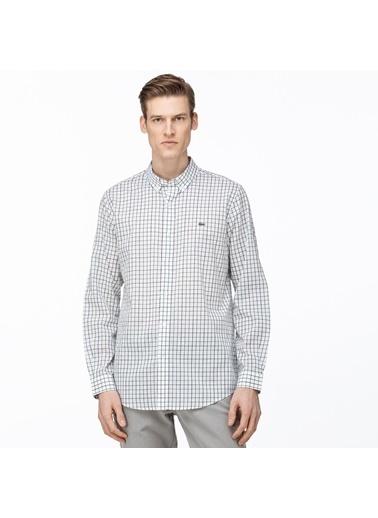 Lacoste Erkek Slim Fit Düğme Gömlek CH0074.74A Beyaz